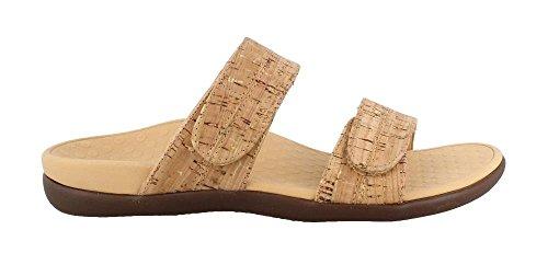 Vionic Women's by Orthaheel, Shore Slide Sandal Cork 6 M by Vionic