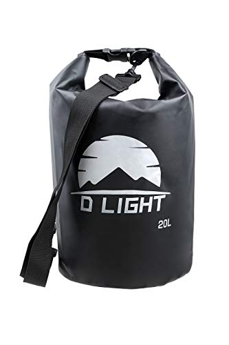 Dry Bag Floating Outdoor Products 10 L 20L 30L Waterproof Dry Sack for Boating, Camping, Kayaking, Rafting, Hiking and Fishing (Black, 20L)