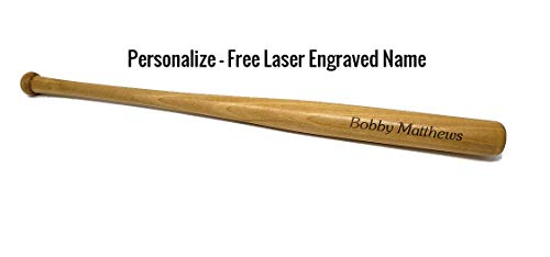 LaserQuick Custom Personalized Mini Baseball Bat Free Engraving