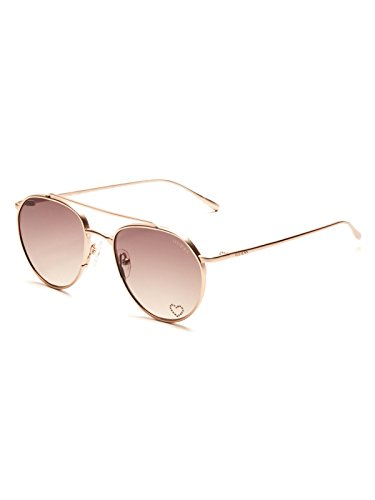 GUESS Factory Women's Round Metal Aviator - Guess Womens Sunglasses
