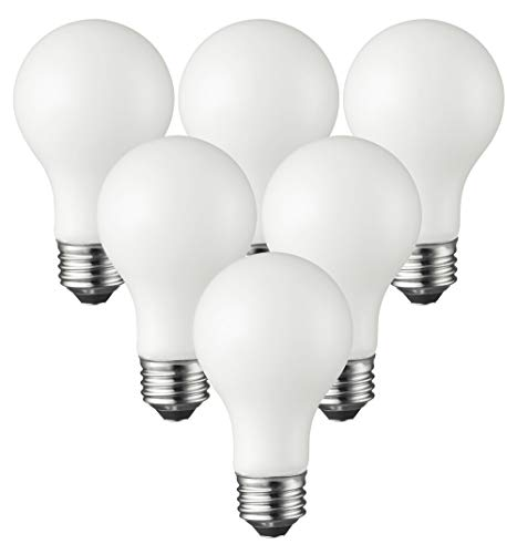 TCP Classic LED 60 Watt A19, 6 Pack, Energy Star, Soft White (2700K) Dimmable Light Bulbs