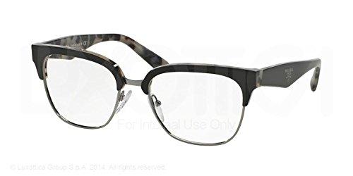 Prada Eyeglasses PR30RV ROK1O1 Top Black/White Havana 52 18 - Prada White Sunglasses And Black