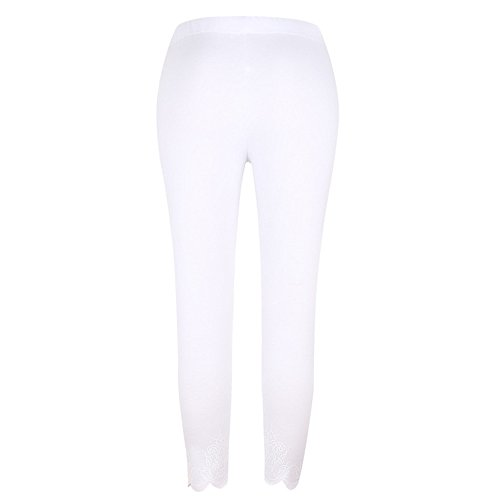 Colmkley Women's Printed Yoga Pants Skinny Workout Fitness Leggings Sweatpants White - Slimming Instantly Jeans Aura