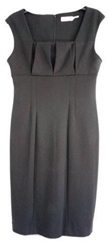 Calvin Klein Women's Cap Sleeve Dress W/Front Pleats Black Size 8