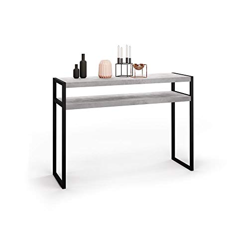 Consolle 80 Cm.Mobili Fiver Console Table Grey Concrete 110 X 40 X 80 Cm Made In Italy