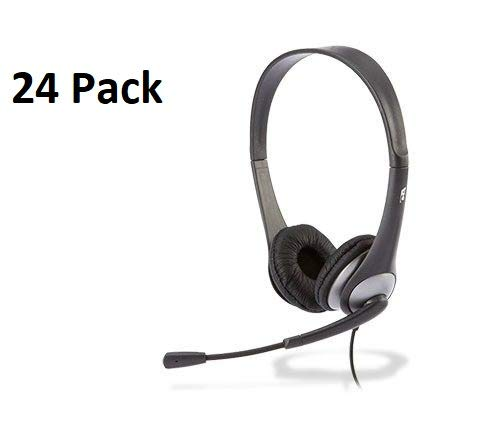 04171c26849 Amazon.com: Cyber Acoustics AC-204 Carton of 24 Stereo Classroom Headsets w/Single  Plug and Y-Adapter: Home Audio & Theater