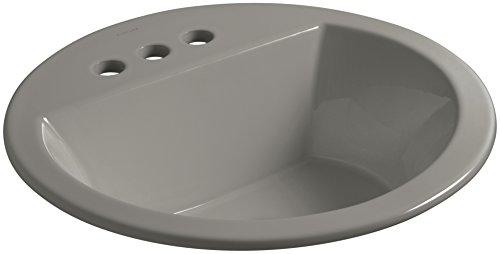 KOHLER K-2714-4-K4 Bryant Round Drop-In Bathroom Sink with Centerset Faucet Holes, 4