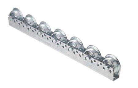 Torwegge 1 Meter Universal Roll ferrocarril, 44 x 28 x 44 x 2 mm perfil, galvanizado, ...