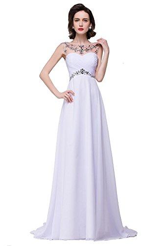 newest collection 077eb 169ba MisShow Damen Elegant Ärmellos Abendkleider Abschlusskleid ...