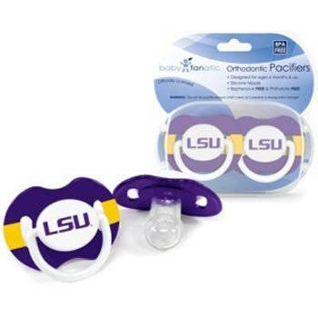 Baby Fanatic Pacifier (2 Pack) - Louisiana State University Team Colors by Baby - Of The Louisiana Mall