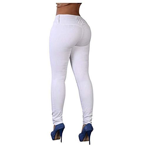 Del Ocasionales Cadera Pantalones Apretados De Color 6 Mujer Vaqueros Lápiz Rxf Caramelo La ETOqawRYP