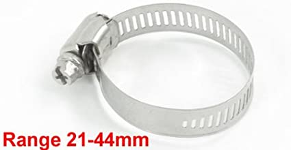 Hose Clamp Karcy 10 Pack Size Rings 0.23-0.47 Hose Clips Stainless Steel Silver