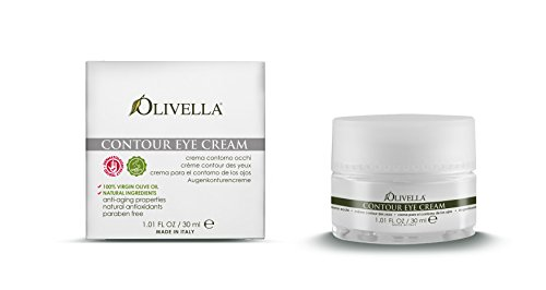 OLIVELLA Contour Eye Cream, Olive, 1.01 Fluid Ounce