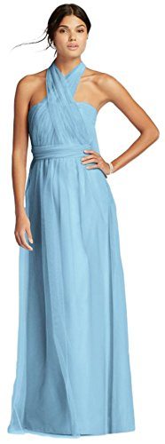 Long Tulle Convertible Versa Bridesmaid Dress Style F19114, Capri, 0 (Versa Pant Convertible)