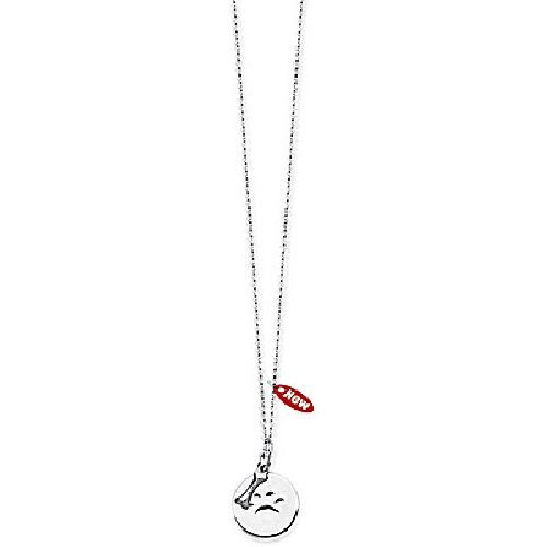 Sterling Silver PAW Disc and Dog Bone Adjustable Necklace