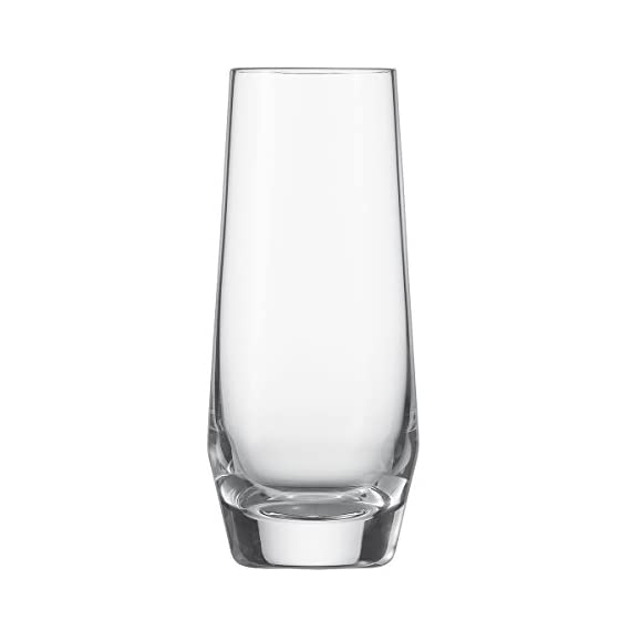 Schott Zwiesel Tritan Crystal Glass Pure Stemware Collection Riesling White Wine Glass, 10.1-Ounce, Set of 6 1 6 Each Pure collection barware; for use with averna, juice, or aperitifs; 8.3-ounce capacity; 5-1/2-inch tall, 2.4-inch wide Tritan crystal glass: non-lead material of titanium and zirconium oxide; resists breakage, chipping, scratching; thermal shock resistant; patented Pure collection: high fashion and designed with sharp, crisp lines for a geometric look; moderate stem height and exellent balance