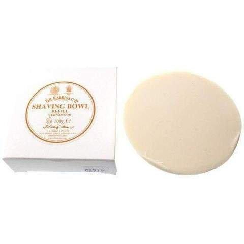 D.R.Harris & Co Sandalwood Triple-Milled Shaving Soap Refill 100g