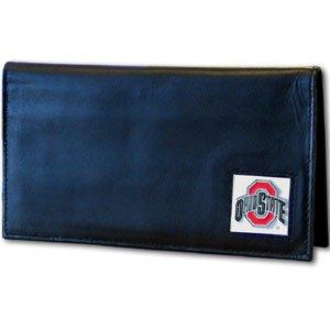 Ohio Leather Checkbook Cover - NCAA Ohio State Buckeyes Deluxe Leather Checkbook Cover