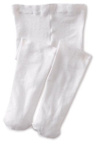 Jefferies Socks Baby-Girls Infant Pima Tight, White, 0-6 Months