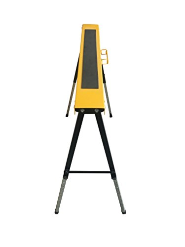 Single Pack Steel Multi Purpose Folding Legs and 12 Position Height Adjustable Sawhorse Brackets Capacity 250LBS by CASTOOL (Image #5)