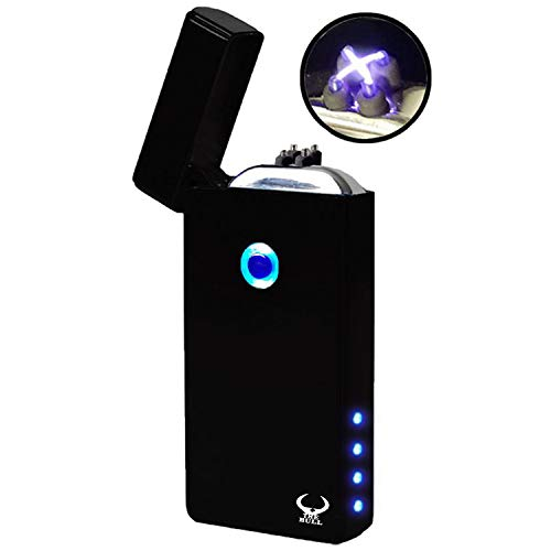 THE BULL USB Lighter, Electronic Lighter, Upgrade model 2019 Electric Plasma Lighter, Wider Arcs, Dual Arc Beam, USB Rechargeable lighter Windproof