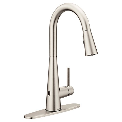 Moen 7864EWSRS Sleek One-Handle High Arc Pulldown Kitchen Faucet Featuring Reflex and MotionSense Wave, Spot Resist Stainless by Moen (Image #1)