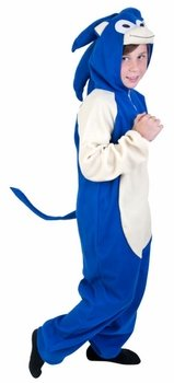 Hedgehog Costumes For Kids (Child Blue Hedgehog Costume (Medium 8-10))