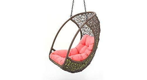 Virasat Furniture & Furnishing Outdoor Single Seater Swing With Cushion (Brown)