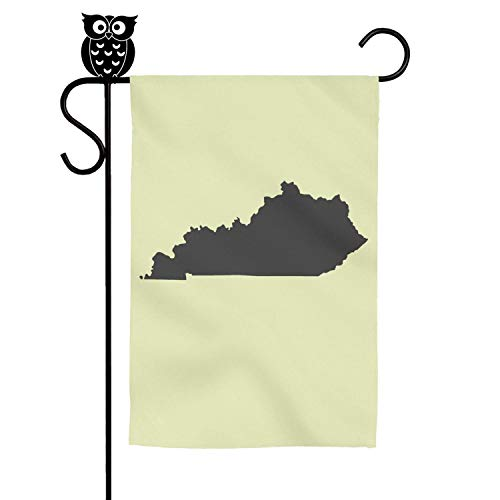 Vsdxz Map of The Us State of Kentucky Flower House Single-Sided Print Decorative Flag Personality 3040cm Family Outdoor Flag (Kentucky State Flower)