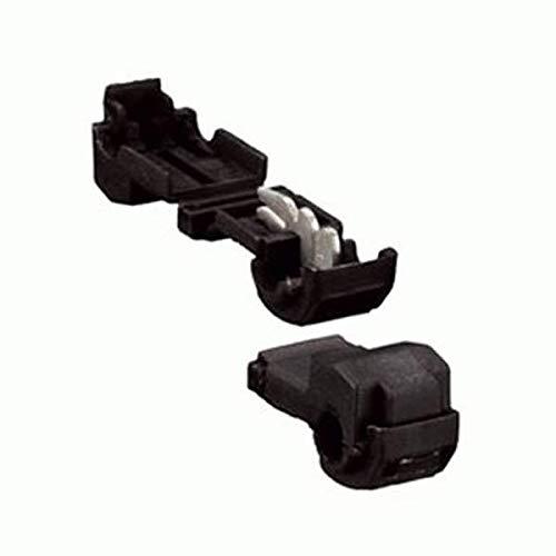 Install Bay BKTT Black Insulation Displacement T-Tap Connector 26-24 Gauge 100 Pack