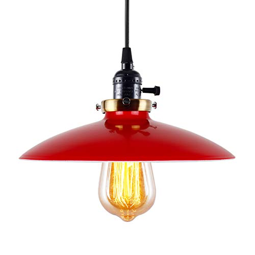 Red Hanging Pendant Light in US - 3