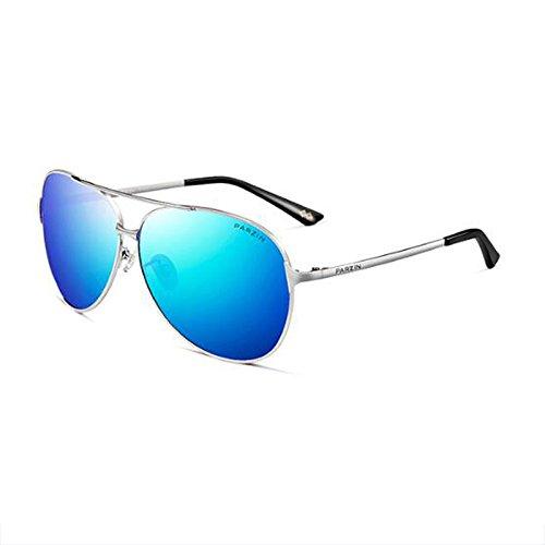 libre Conducción moda sol frame de Color Gafas metal conducción sol WLHW Glare Gafas Espejo Lente de hombres de Black aire polarizadas al Protección de de blue frame de los UV Marco Silver gray UV Conductor film HqTqgAxw