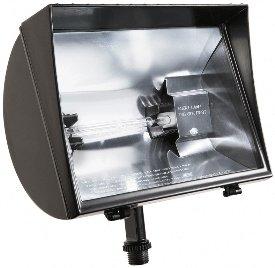 RAB Lighting QF500F Quartz Curve Floodlight, Aluminum, 500W Power, 11000 Lumens, 120V, Bronze