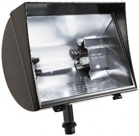 RAB Lighting QF500F Quartz Curve Floodlight, Aluminum, 500W Power, 11000 Lumens, 120V, Bronze - Quartz Floodlight