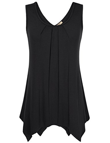 Kimono Nursing Top (Timeson Tunics For Women, Women's Deep Scoop Neck Sleeveless Flowy Tank Top Black Medium)