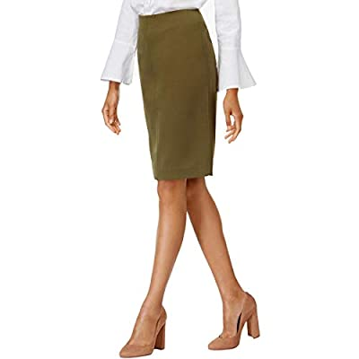Olivia & Grace Womens Pull On Above Knee Pencil Skirt
