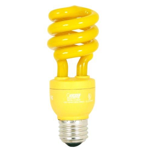 Feit Electric ESL13T/BUG 13-Watt Compact Fluorescent Mini Twist Bug (60-Watt Incandescent Equivalent), Yellow