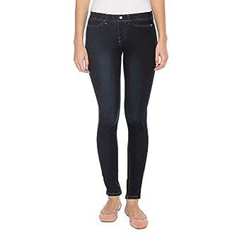 Go Colors Blue Skinny Leggings Pant For Women