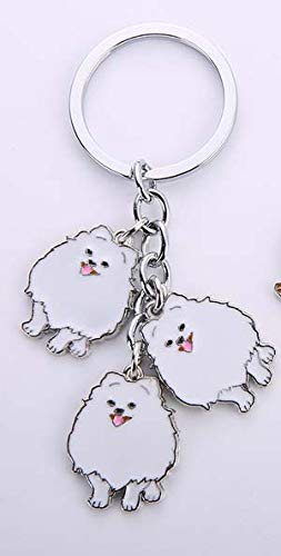 Key Chains - Jack Russell Terrier Pendant Keychain Key Rings for Men Women White Gold Color Metal Alloy pet Dog Bag Charm car Key Chain 2019 - by Mct12-1 PCs