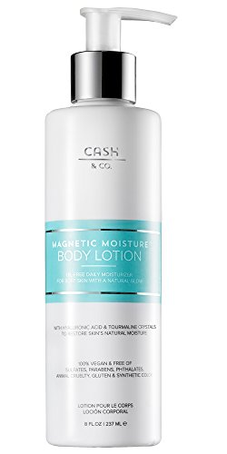 � Oil-free Body Lotion, 8 fl oz with Hyaluronic Acid & Tourmaline Minerals for Ultra Soft Skin. Hydrates & Firms Skin. Anti-Aging. Natural & Vegan. No Parabens. ()