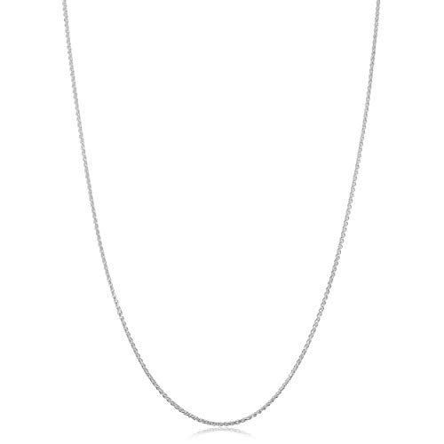 (Sterling Silver Round Wheat Chain Necklace (1.1 mm, 16 inch))
