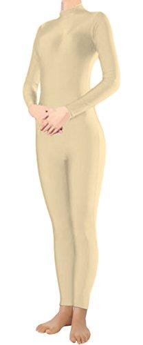 Marvoll Lycra Long Sleeve Unitard Bodysuit Dancewear for Kids and Adults (Kids Small, Skin) (Body Suit Costume)