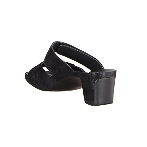 Vital 0501-1599- Damenschuhe Pantolette / Zehentrenner, Schwarz, leder, absatzhöhe: 50 mm