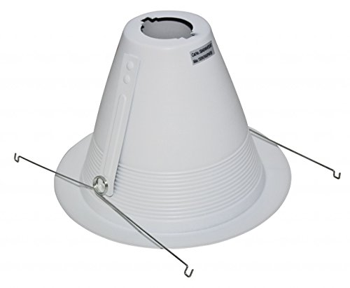 Four Bros Lighting- 6'' & 5'' Inch White Baffle Cone Trim Air Tight for Recessed Can Light (6 Inch (24 pack)) by Four Bros Lighting