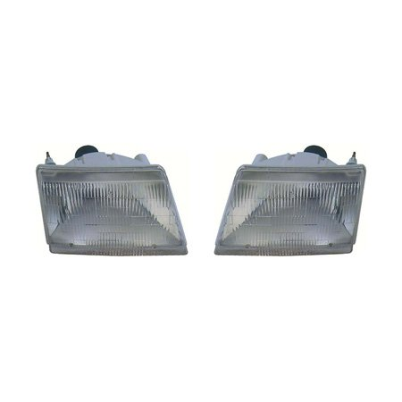 Fits Mazda Pickup 1998-2000 Headlight Assembly Pair Driver and Passenger Side MA2502113, MA2503113