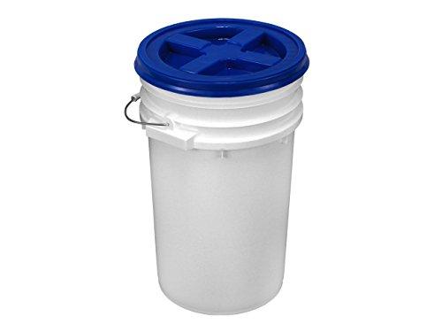 White Letica 7 Gallon HDPE Bucket