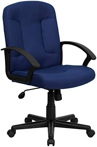 Flash Furniture Mid-Back Navy Fabric Executive Swivel Office Chair