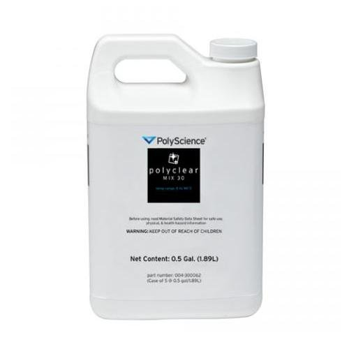 PolyScience 004-300062 Polyclear Mix 30 General Purpose Fluid, 0.5 gal Volume (Pack of 5)