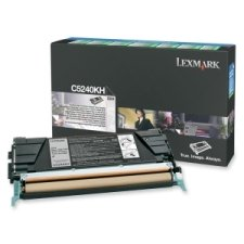 - LEXC5240KH - Lexmark Black High Yield Return Program Toner Cartridge