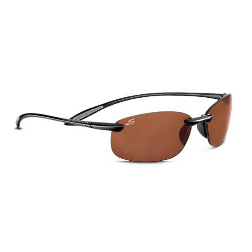 Serengeti Nuvola Polar Sunglasses,Shiny Brown with Drivers ()